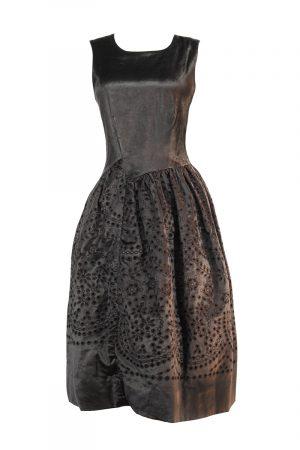 Abendkleid leihen Marc Jacobs Samt Midi Kleid