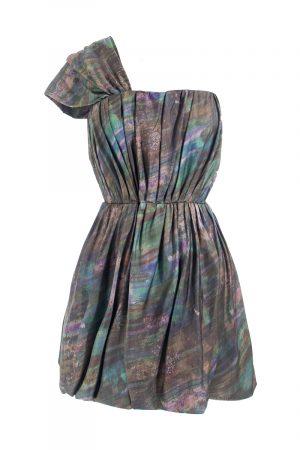 Mini Kleid Partykleid leihen Acne Oneshoulder Design