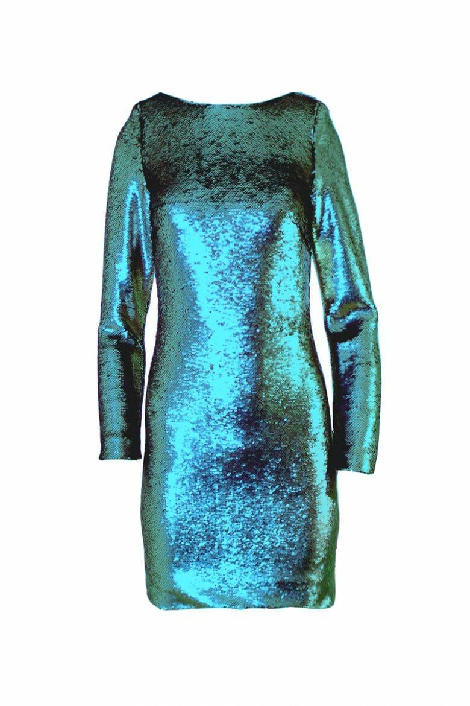 Party Mini Kleid Pailletten grün leihen rent dress