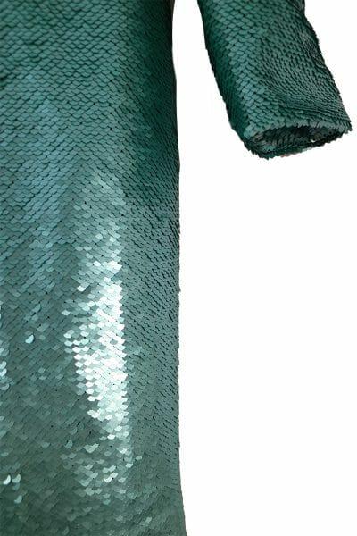 Party Mini Kleid Pailletten grün mieten dress