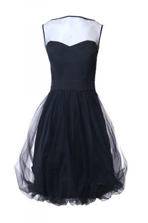 schwarzes Cocktail Kleid Mini Dress zum leihen