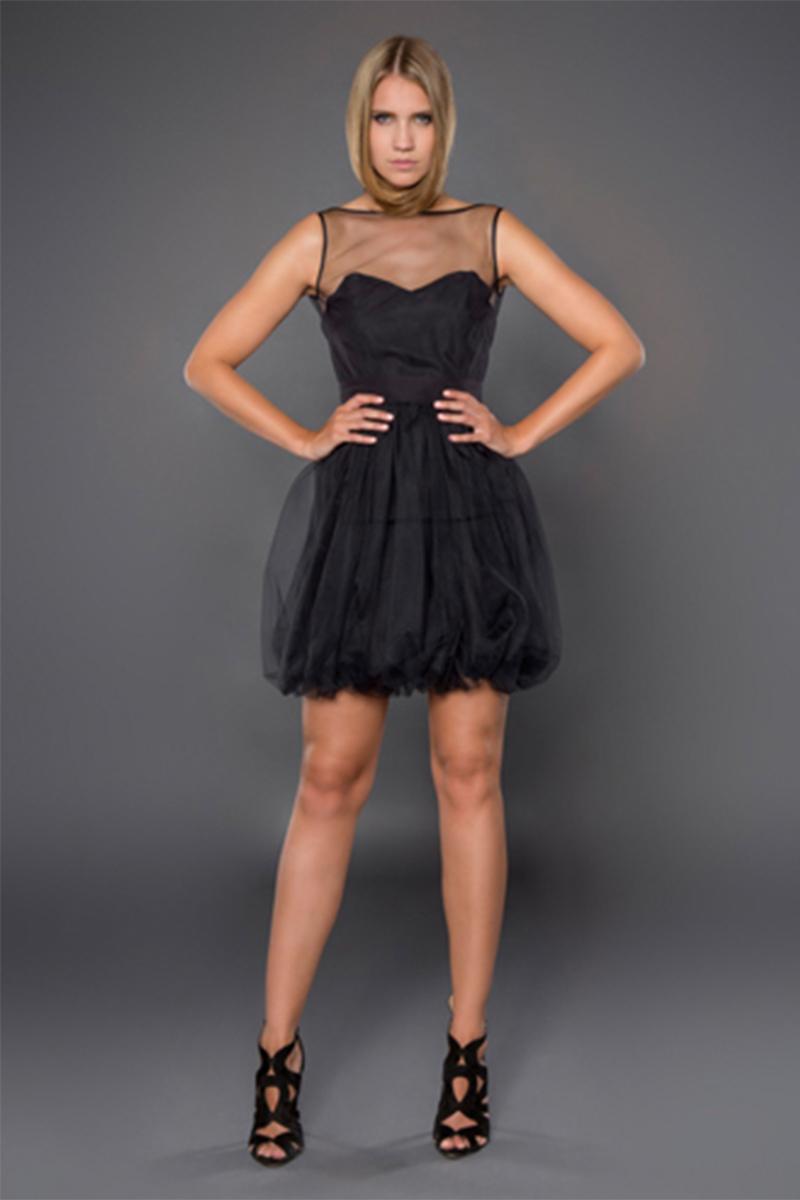 schwarzes Cocktail Kleid Mini Dress zum leihen d9bfa0b3ee
