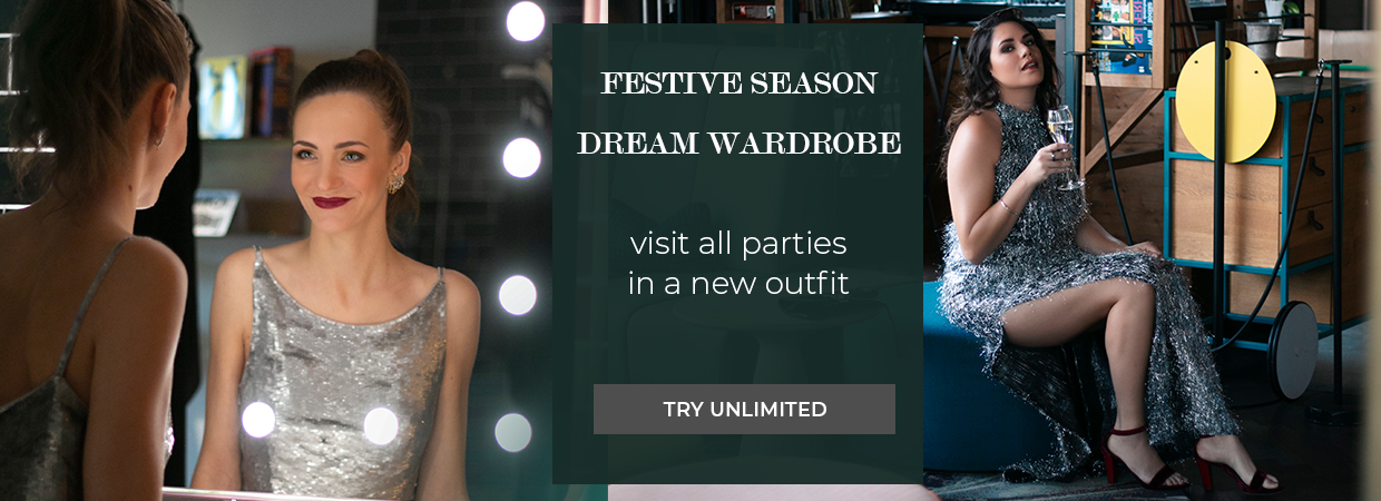 Festive Season Dream Wardrobe visit all parties in your rented dresses