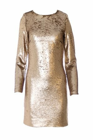Party Mini Kleid Gold zum mieten dress