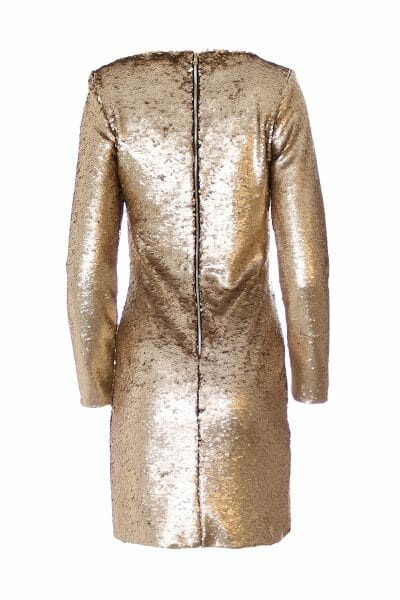 Party Mini Kleid Gold zum mieten dress