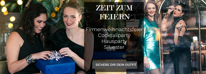 Zeit zum Feiern Firmenweihnachtsfeier Cocktailparty Hausparty Silvester sichere dein Outfit