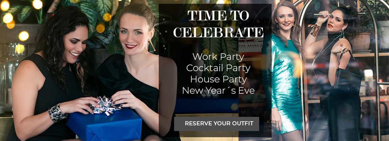 Time to celebrate work party Cocktail Party House Party New Year reserve your outfit