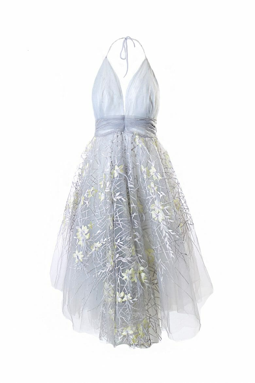 Verziertes Ballkleid aus Tüll mit Blumenapplikation Marilyn Monroe dress zum mieten für Hochzeiten