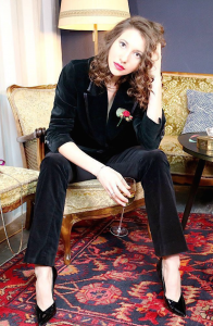 Designer Samtanzug von Gucci zum leihen