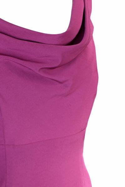Violet Midi Kleid U-Boot Ausschnitt Abendmode leihen plus size
