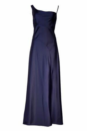 Blaues Maxi Kleid leihen für Ball Gala Event Plus Size