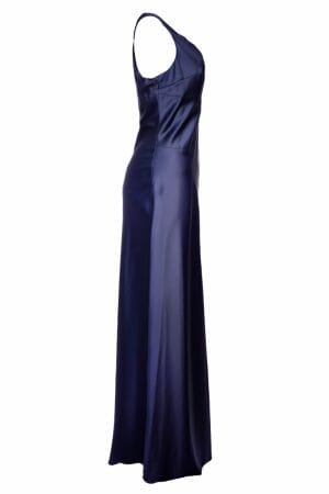 Blaues Maxi Kleid mieten für Ball Gala Event Plus Size Dress