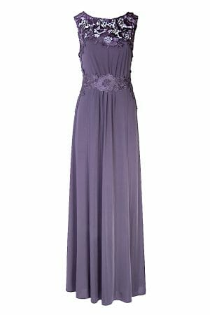 Maxikleid Grau Gala Ball Dress Mode leihen
