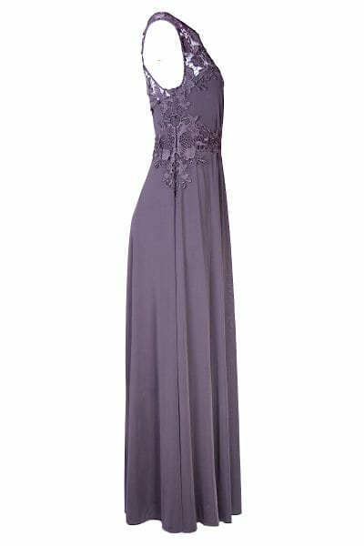 Maxikleid Grau Gala Ball Dress Mode mieten