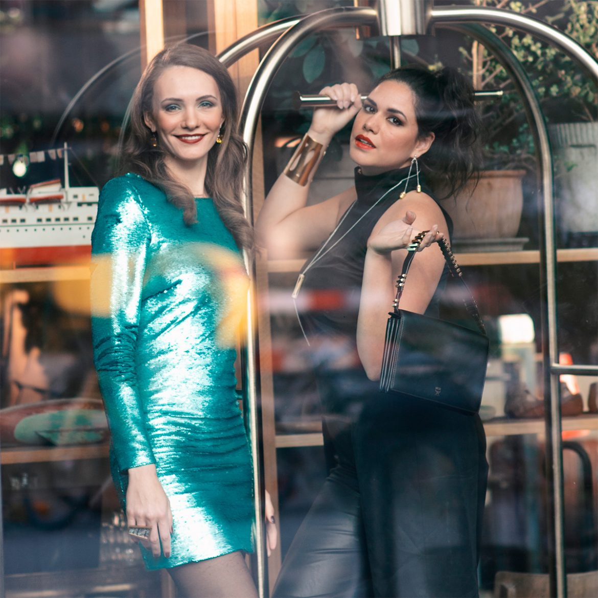 Silvester party outfit Fashion Glitzer Galmour