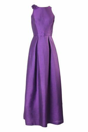 Violet Maxikleid Schleife Taillengürtel Abendmode zum Leihen