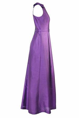 Violet Maxikleid Schleife Taillengürtel Abendmode zu Mieten Dress
