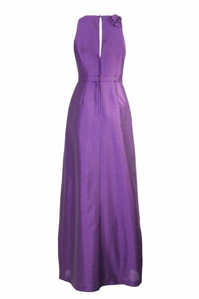 Violet Maxikleid Schleife Taillengürtel Abendmode zum leihen Dress