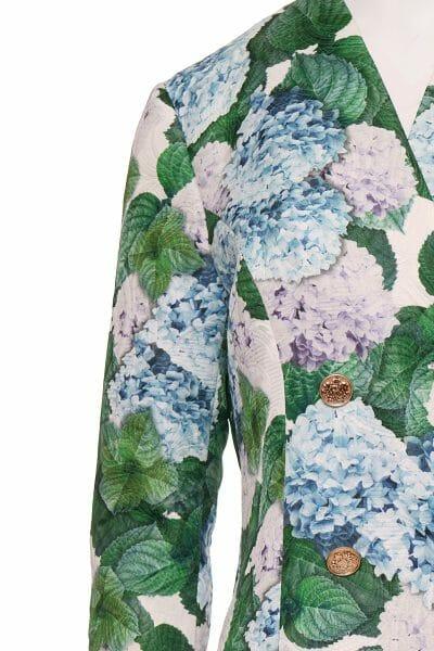 Designer Sakko Kleid Blumen Print