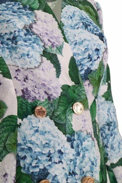 Designer Weste Kleid Blumen Print