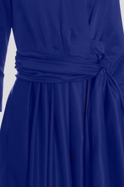 Ballkleid mit Wickeloptik Blau