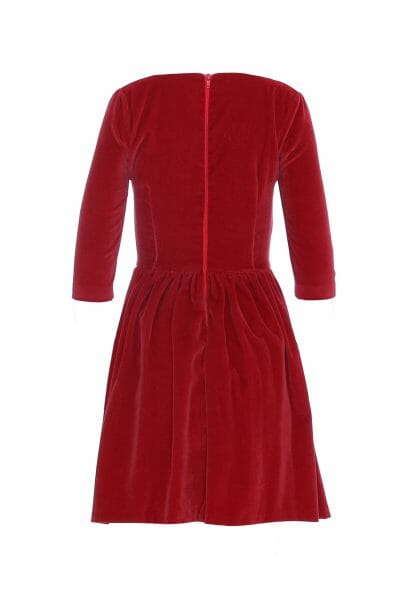 Designer Samt Rot Mini Kleid leihe Party Outfit