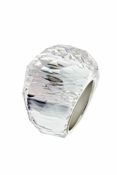 Luxus Ring Kristall Edelstall