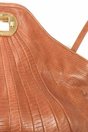 Tolle Vintage Leder Clutch leihen