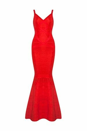 Rückenloses Kleid mit V-Ausschnitt
