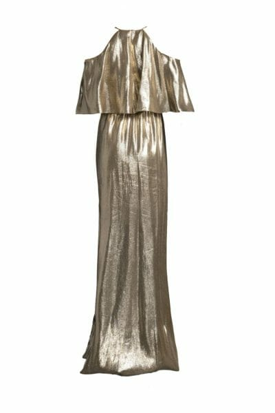 Marlene Ausschnitt Jacquardkleid aus Metallic-Seidenmischung
