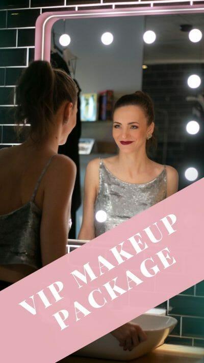 Make Up und Kleid toller Look